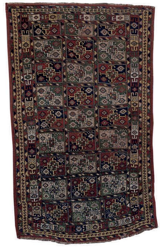 An unusual antique Kurdish rug