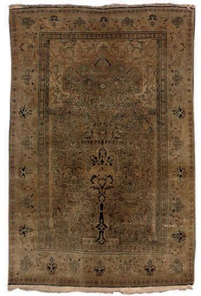 A Sarouk prayer rug