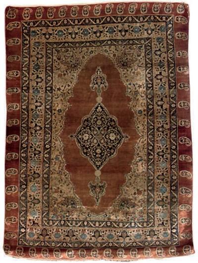A very fine silk Tabriz rug