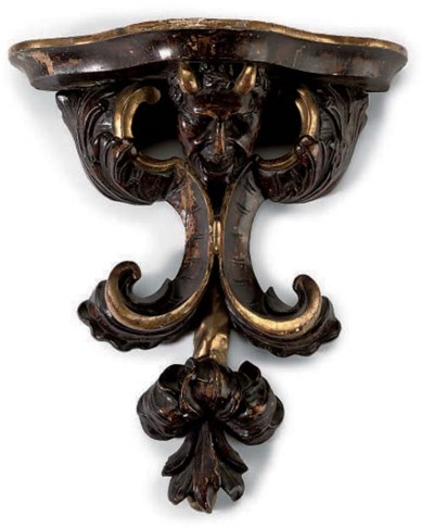A VENETIAN PARCEL-GILT AND STA