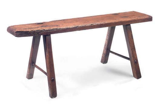 AN ELM LONG BENCH