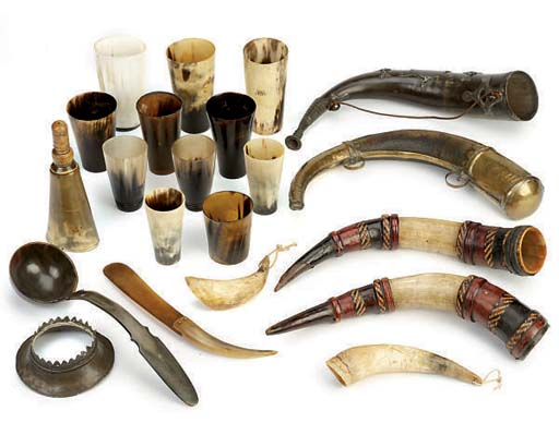 A COLLECTION OF ELEVEN HORN BE