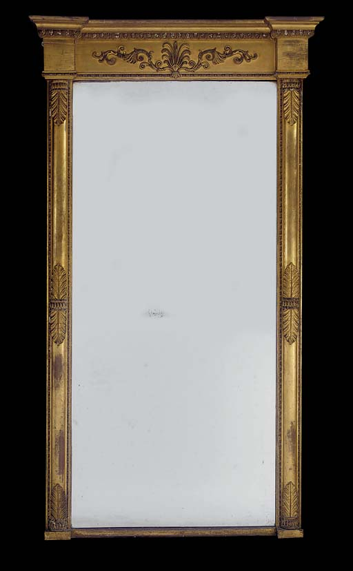 A LARGE WILLIAM IV GILTWOOD AN