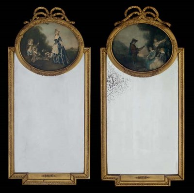 A PAIR OF GILTWOOD AND COMPOSI