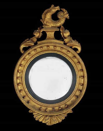 A REGENCY GILTWOOD AND GESSO C