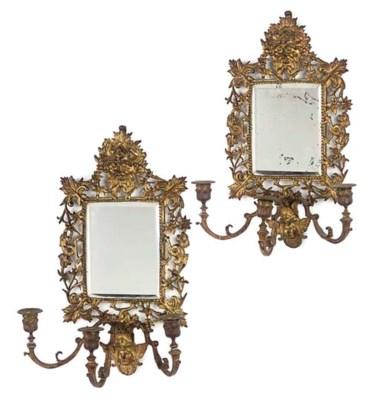 A PAIR OF FRENCH GILT-BRONZE G
