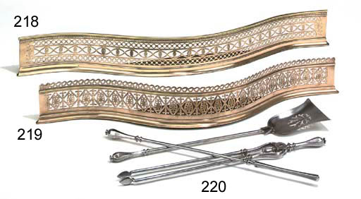 A SET OF EARLY VICTORIAN STEEL FIRE-IRONS