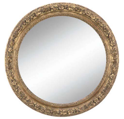 A NORTH EUROPEAN CARVED AND GILDED MIRROR