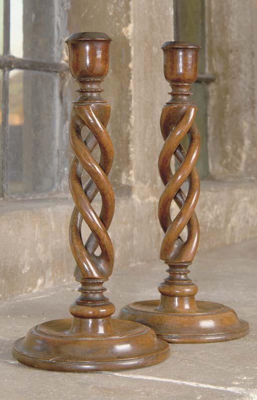 A pair of Victorian walnut can