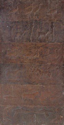 AN ARTS AND CRAFTS COPPER PANE