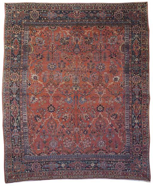An antique Kirman Laver carpet, South Persia