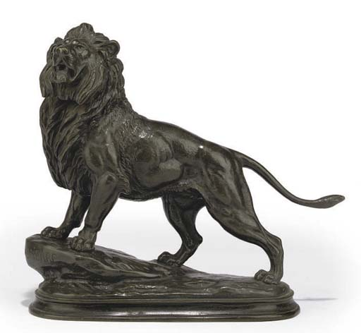 A FRENCH BRONZE LION