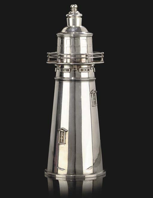 A SILVER-PLATED BOSTON LIGHTHO