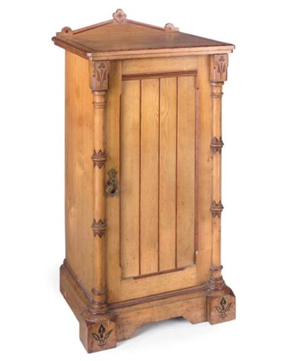 A LATE VICTORIAN ASH BEDSIDE C