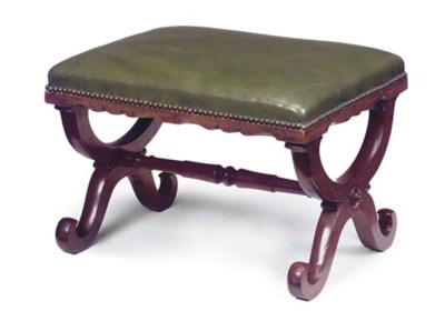 A WILLIAM IV MAHOGANY STOOL