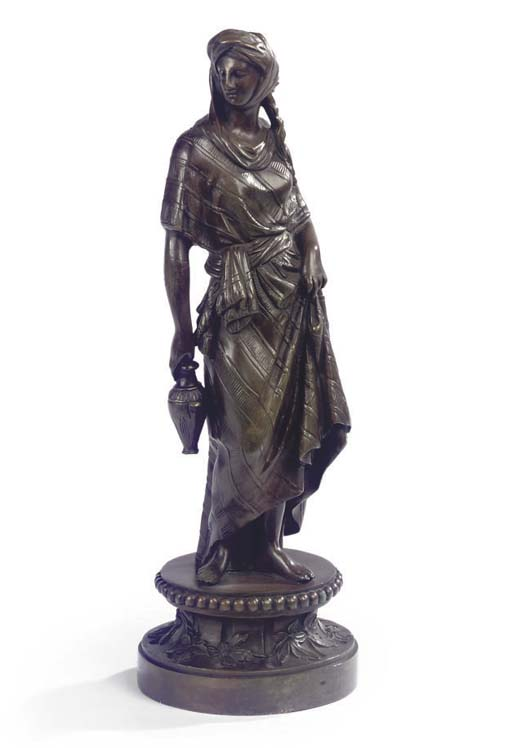 A FRENCH BRONZE MODEL OF A FEM