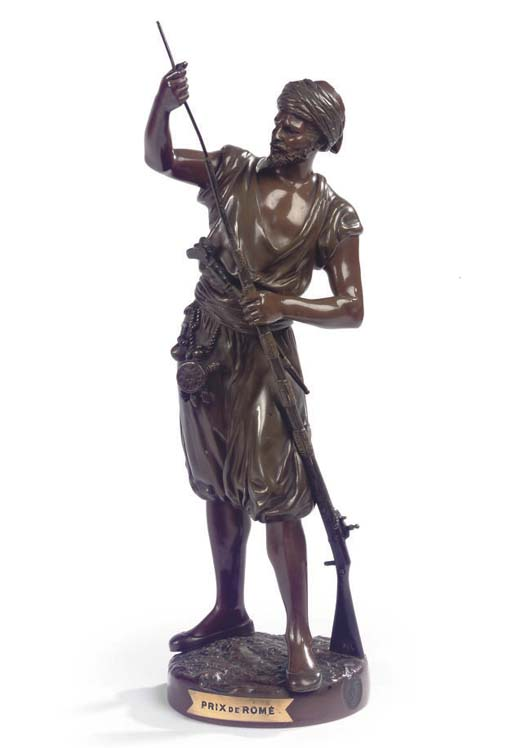 A FRENCH BRONZE FIGURE OF AN A