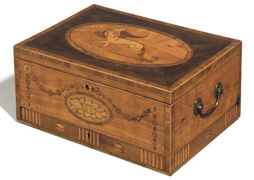 A GEORGE III SATINWOOD INLAID