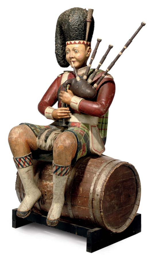 AN ENGLISH PAINTED WOOD TRADE