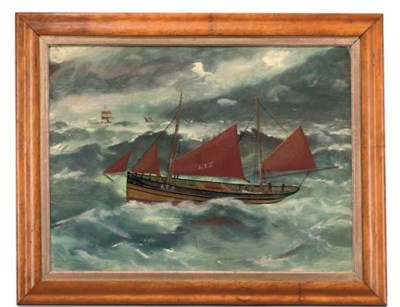 A PAINTING OF THE FISHING BOAT