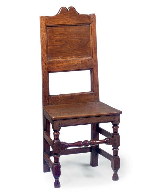 AN ENGLISH ELM SOLID-SEAT BACK