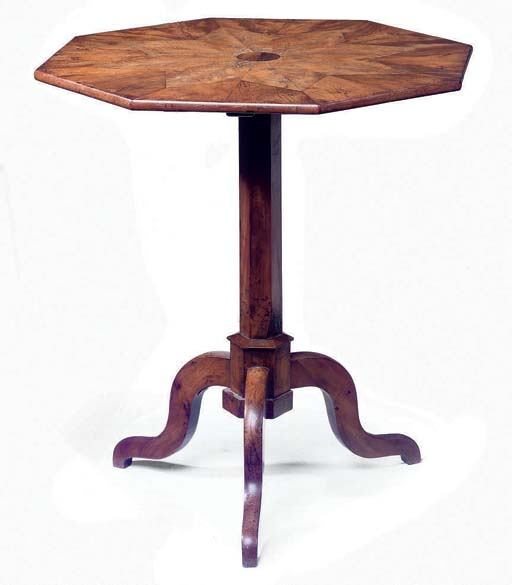 A NORTH EUROPEAN YEW WOOD AND