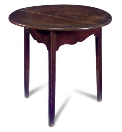 AN ENGLISH ELM CRICKET-TABLE