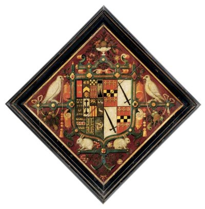 AN ENGLISH PAINTED-WOOD HATCHM