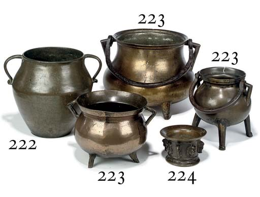 A COLLECTION OF THREE BRONZE C