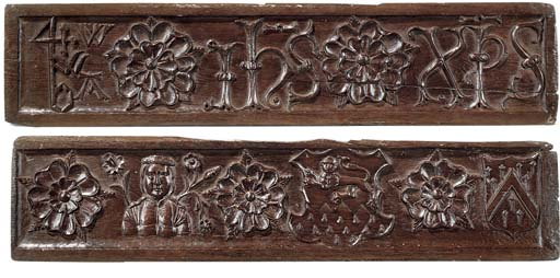 A PAIR OF ENGLISH CARVED OAK R