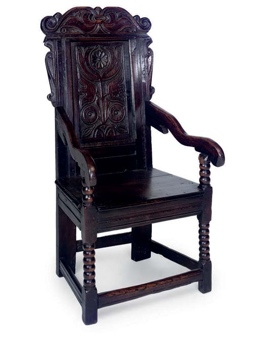 A YORKSHIRE OAK ARMCHAIR