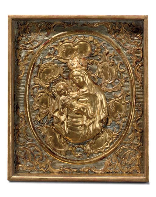 A CONTINENTAL GILT AND SILVERE