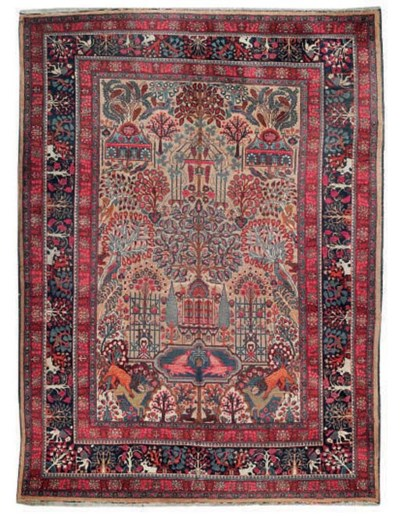 An unusual Meshed carpet