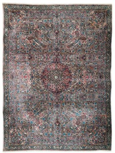 An unusual Kirman carpet