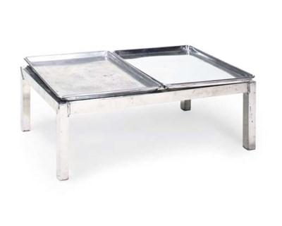 AN ALUMINIUM LOW TABLE