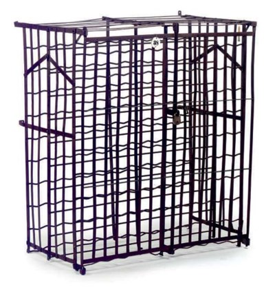 A FRENCH WROUGHT IRON 'CAGE AU