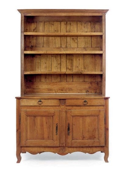 A FRENCH CHERRYWOOD DRESSER