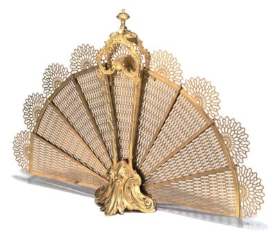 A FRENCH GILT-BRONZE AND BRASS