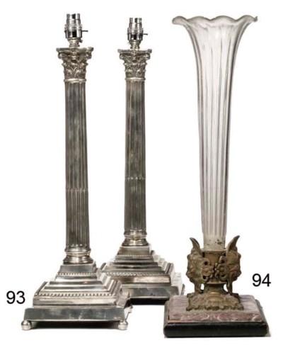 A GILT-BRONZE MOUNTED GLASS VA