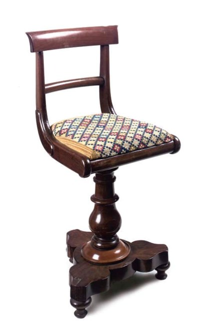 AN EARLY VICTORIAN ROSEWOOD PI