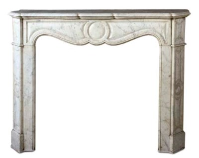 A FRENCH MARBLE CHIMNEYPIECE