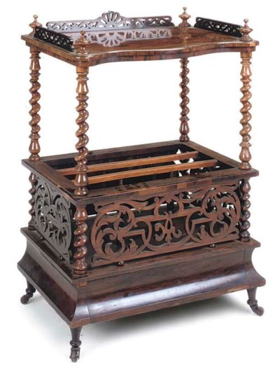 A MID VICTORIAN ROSEWOOD WHATN
