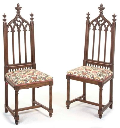 A PAIR OF FRENCH OAK SIDE CHAI