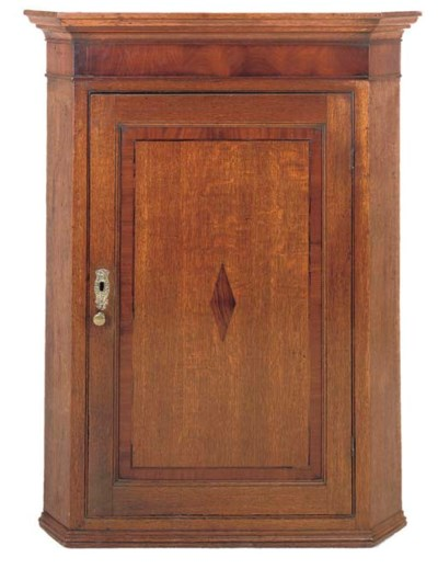 A GEORGE III OAK AND MAHOGANY