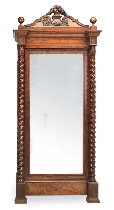A FRENCH ROSEWOOD ARMOIRE