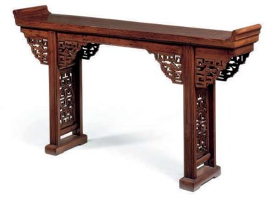 A CHINESE ELM ALTAR TABLE