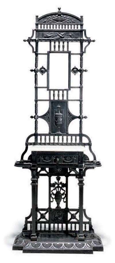 A VICTORIAN CAST-IRON HALL STA