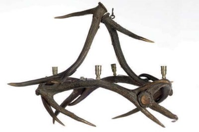 A STAG ANTLER CHANDELIER