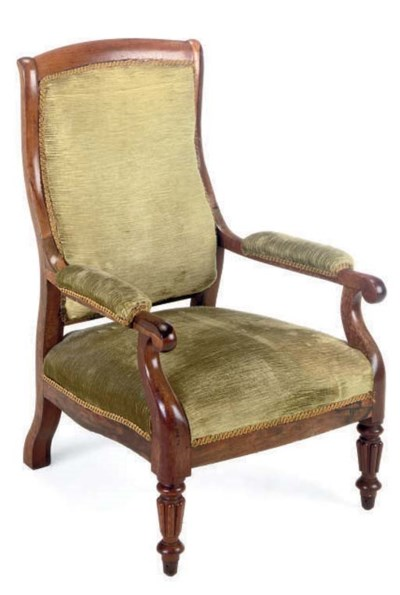 A LATE VICTORIAN ROSEWOOD ARMC