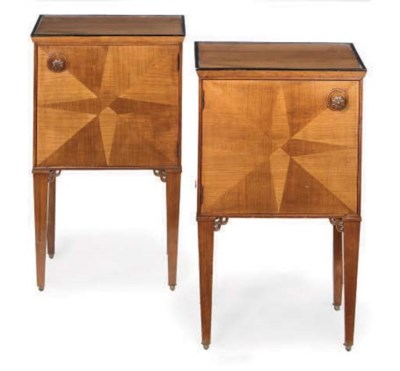 A PAIR OF AUSTRIAN WALNUT AND
